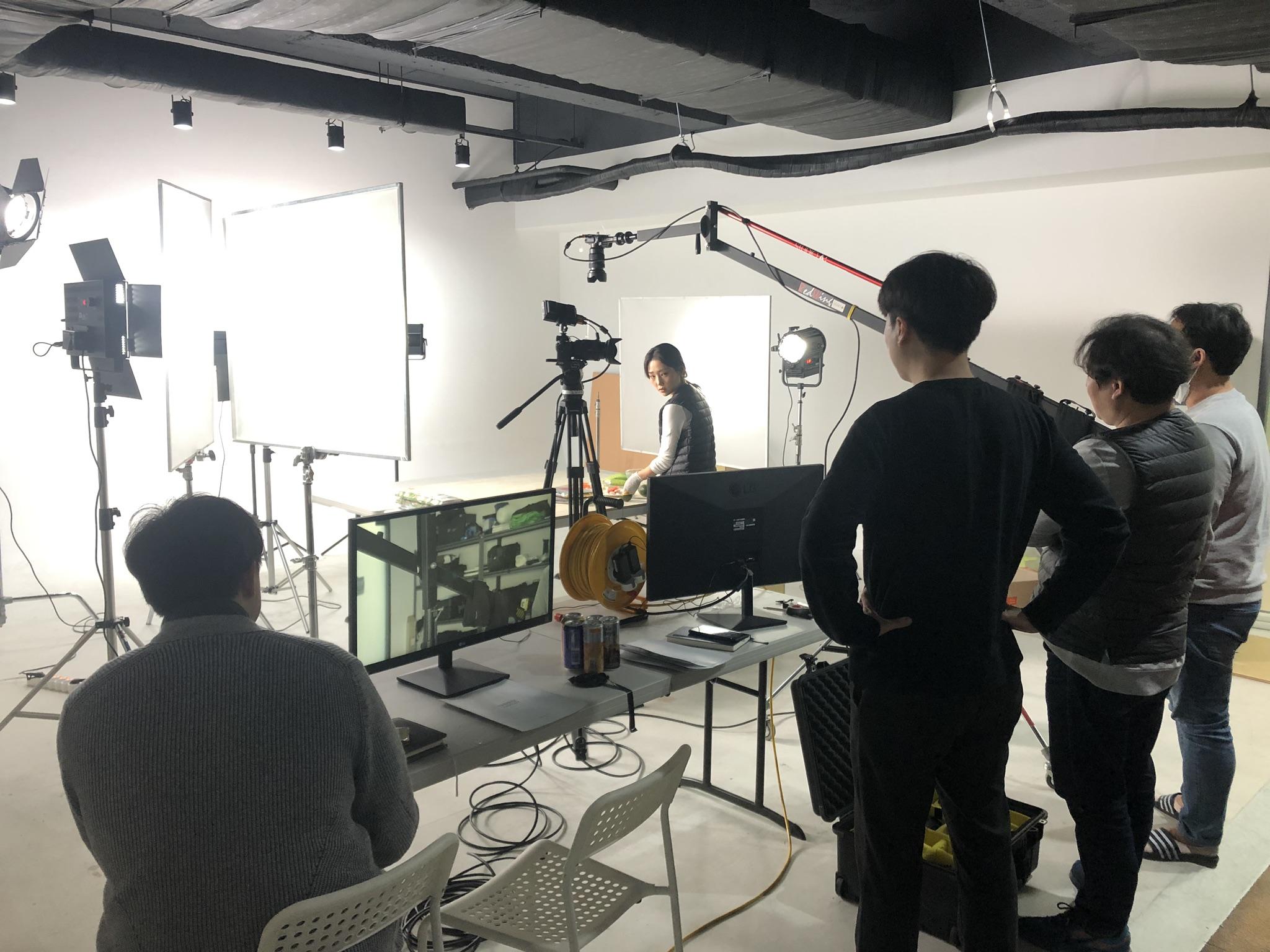 수퍼비글로벌디자인그룹 영상팀 대천김 수출용 김 홍보영상 제작 현장 촬영 스케치