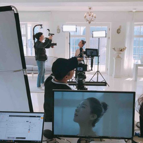 외부 스튜디오에서 촬영한 셀피코리아 영상 현장
