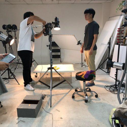 수퍼비 내부 스튜디오에서 촬영한 유아복 꼬까참새 단품 사진 촬영 현장