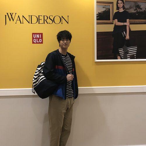 유니클로 x JW앤더슨 콜라보레이션 컬렉션 런칭행사 사진촬영