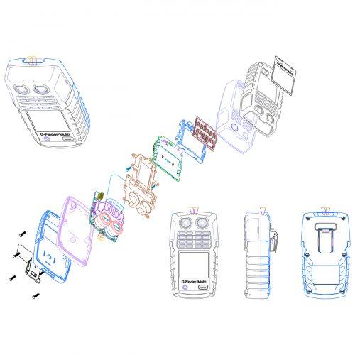 휴대용 Multi 가스디텍터