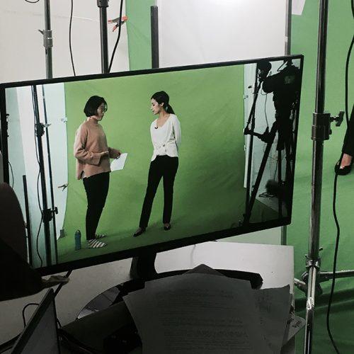 아이티아이 외국인 모델과 함께한 크로마키 영상 촬영 현장
