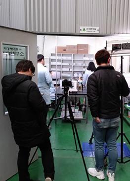 영상촬영 현장) 자경케미칼 방문 촬영현장